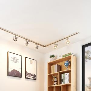 Arcchio 1-fázový koľajnicový LED systém Arika, 6-pl, nikel