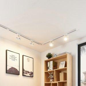 Arcchio 1-fázový koľajnicový LED systém Linsey 4-pl, biely