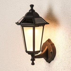 Lindby Solárne vonkajšie nástenné LED svietidlo Kristin