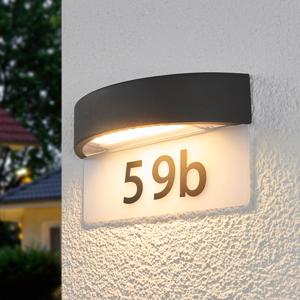 Lindby LED svetlo s číslom domu Alena, polkruh