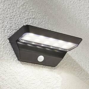 Lindby Solárne nástenné LED svetlo Emilio so snímačom