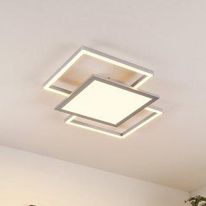 Lucande Lucande Ciaran– stropné LED svietidlo, štvorce