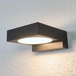 Arcchio Čierne vonkajšie nástenné LED svietidlo Natalja