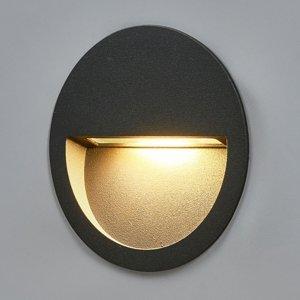 Lucande Okrúhle zapustené nástenné LED svietidlo Loya