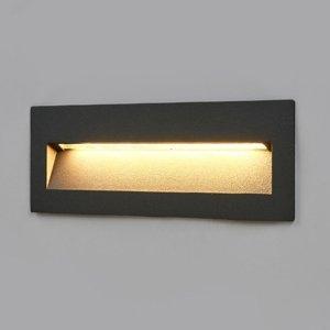 Lucande Tmavé zapustené LED svietidlo Loya montáž na stenu