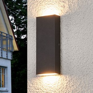 Lucande Ploché vonkajšie nástenné LED svietidlo Corda