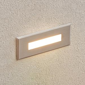 Lampenwelt.com Zapustené nástenné LED svetlo Doga oceľ 12 cm
