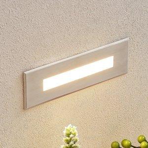 Lucande Zapustené nástenné LED svetlo Doga oceľ 19,5 cm