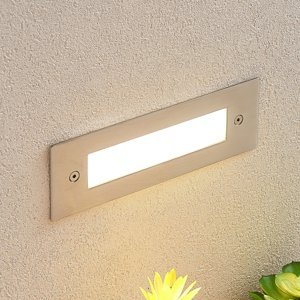 Lucande Zapustené nástenné LED svietidlo Roni oceľ 19,5 cm