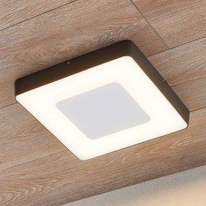 Lucande Vonkajšie stropné LED svetlo Sora hranaté snímač