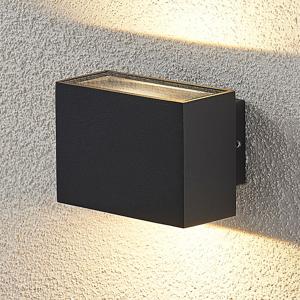 Lampenwelt.com Vonkajšie nástenné LED svetlo Oliver tmavosivé 9cm
