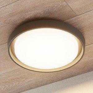 Lucande Vonkajšie stropné LED svietidlo Birta okrúhle 34cm