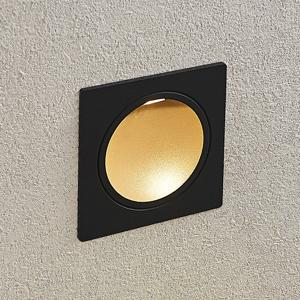 Lucande Zapustené nástenné LED svetlo Podis IP65 hranaté