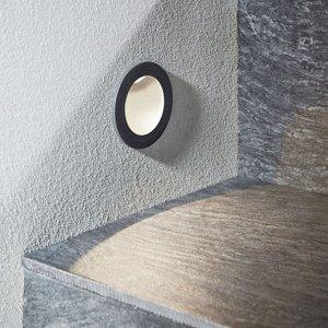 Lucande Zapustené nástenné LED svetlo Podis IP65 okrúhle