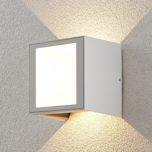 Lampenwelt.com Vonkajšie nástenné LED svietidlo Rakel, štvorcové