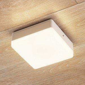 Lampenwelt.com Stropné LED svietidlo Thilo IP54 biele 16 cm TL