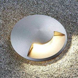 Lucande Zapustené podlahové svietidlo Milara z hliníka