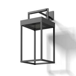 Lucande Lucande Lynzy solárna LED lampa, čierna, 38,3cm