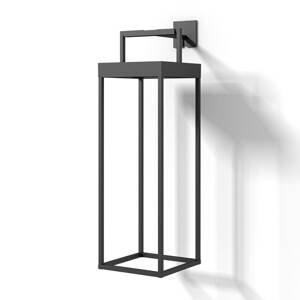 Lucande Lucande Lynzy solárna LED lampa, čierna, 58,3 cm