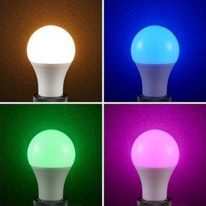 Lampenwelt.com Lindby Smart LED žiarovka Wifi E27 10W 2700 K RGB