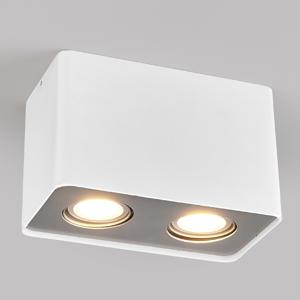 Lampenwelt.com GU10-LED-Downlight Giliano, 2pl., hranaté, biele