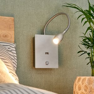 Lampenwelt.com Flexibilné nástenné LED svetlo Marbod stmievač