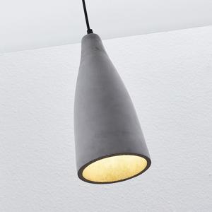 Lindby Betónová závesná lampa Sanne priemyselný štýl