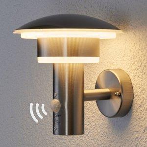 Lindby PIR Vonkajšie nástenné svetlo Lillie s diódami LED