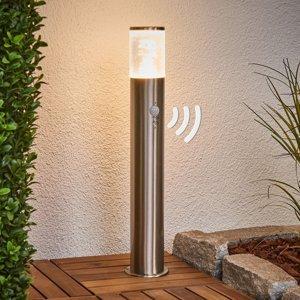 Lindby Soklové svietidlo s detektorom pohybu Belen s LED