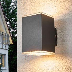 Lampenwelt.com Vonkajšie nástenné LED svietidlo Lydia 2-plameňové
