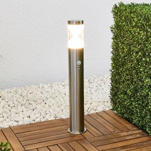 Lindby Stĺpikové svietidlo Fabrizio diódy LED detektor