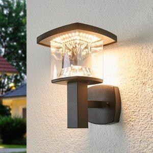 Lindby Vonkajšie nástenné LED svietidlo Askan z ocele