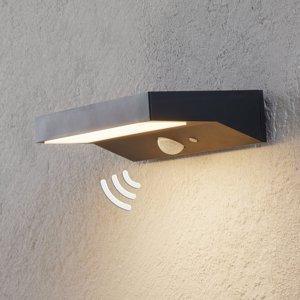 Lindby Solárne nástenné LED svietidlo Maresia snímač