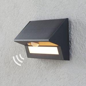 Lindby Solárne nástenné LED svietidlo Kristiana snímač