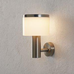 Lampenwelt.com Vonkajšie nástenné LED svietidlo Cathleen oceľ
