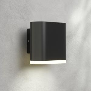 Lampenwelt.com Vonkajšie nástenné LED svetlo Maurus tmavosivá 1pl