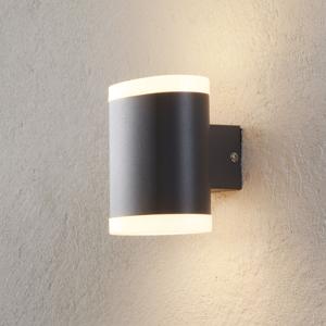 Lampenwelt.com Vonkajšie nástenné LED svetlo Maurus tmavosivá 2pl