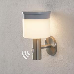 Lampenwelt.com Solárne nástenné LED svietidlo Cathleen oceľ