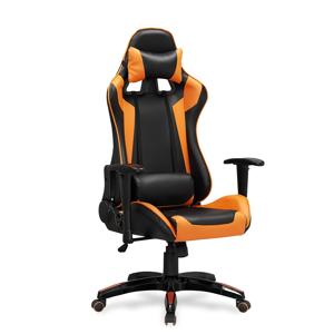 HALMAR Defender kancelárske kreslo s podrúčkami čierna / oranžová