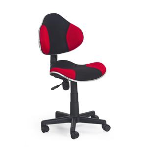 HALMAR Flash detská stolička na kolieskach čierna / červená