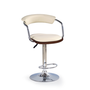 HALMAR H-19 barová stolička čerešňa antická / krémová