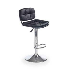 HALMAR H-75 barová stolička čierna / chróm