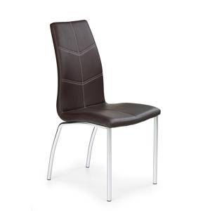 HALMAR K114 jedálenská stolička hnedá / chróm