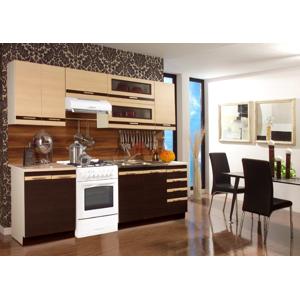 STOLKAR Lungo 180+60 kuchyňa wenge / mliečny dub