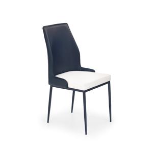HALMAR K199 jedálenská stolička čierna / biela