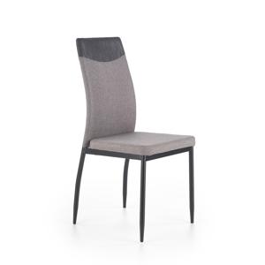 HALMAR K276 jedálenská stolička svetlosivá / čierna