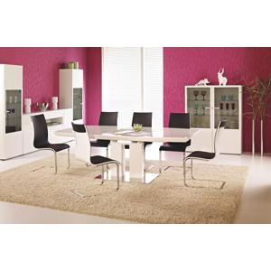 HALMAR Lorenzo rozkladací jedálenský stôl biely lesk