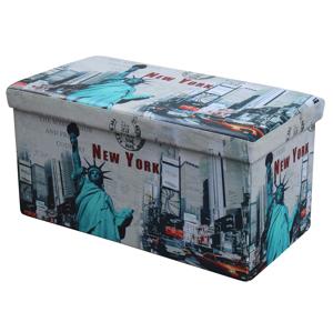 HALMAR Moly XL taburetka s úložným priestorom vzor New York