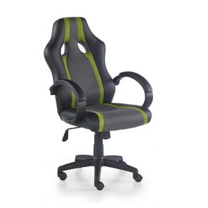 HALMAR Radix kancelárske kreslo s podrúčkami sivá / zelená