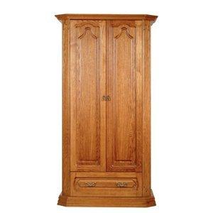 PYKA Kinga 2D rustikálna dvojdverová šatníková skriňa drevo D3